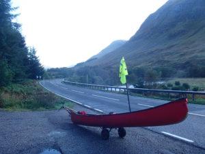 Canoe on trailor