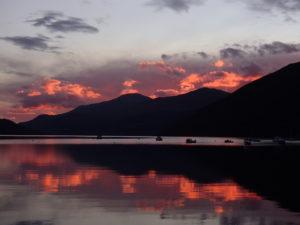 Sunset over loch